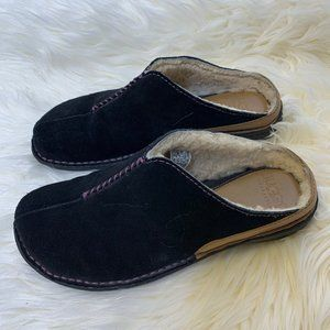 Ugg Clogs Mules Leather Fur Slip On Shoes Suede 7